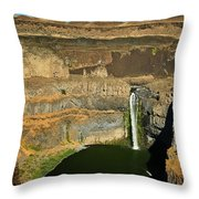 Palouse Falls Throw Pillow