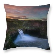 Palouse Falls Sunrise Throw Pillow