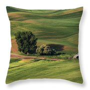 Palouse Farm 1 Throw Pillow