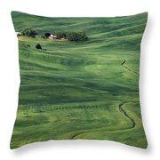 Palouse Green Fields Throw Pillow