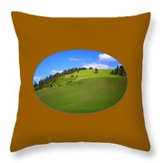 Palouse - Landscape - Transparent Throw Pillow