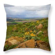 Palouse Sunflowers Throw Pillow
