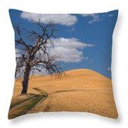 Palouse Wheat Field Throw Pillow