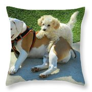Pals - Linus And Buddy Throw Pillow