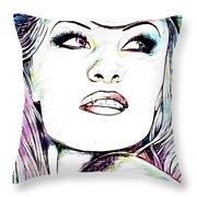 Pamela  Anderson Portrait Throw Pillow