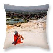 Pamukkale Cotton Castle Throw Pillow