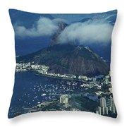 Pan De Azucar - Rio De Janeiro Throw Pillow