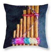 Pan Flute Throw Pillow