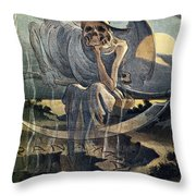 Panama Canal Cartoon, 1904 Throw Pillow