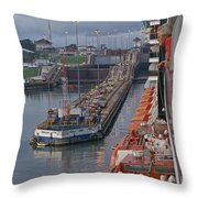 Panama Canal Throw Pillow