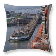 Panama Canal Throw Pillow