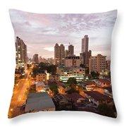 Panama City At Night Throw Pillow