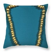 Panama: Gold Beads, C1000 Throw Pillow