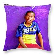 Panama Kids 967 Throw Pillow