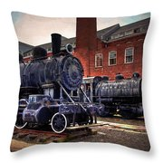 Panama Railroad Locomotive 299 Throw Pillow