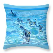 Panama. Salted Dogs Throw Pillow