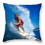 Pancho Makes The Wave Throw Pillow by Vince Cavataio - Printscapes