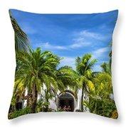 Panchos Backyard  Throw Pillow