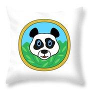 Panda Bear Head Throw Pillow
