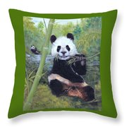 Panda Buffet Throw Pillow
