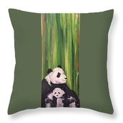Pandas Fading  Throw Pillow