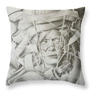 Pandora Black Ribbon Collection #1 Throw Pillow