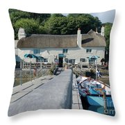 Pandora Inn Cornwall Throw Pillow