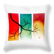 Panel Painting Throw Pillow