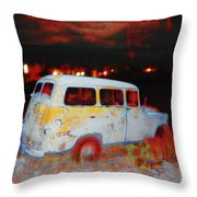 Panel Truck  Throw Pillow