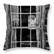 Panes To The Past Throw Pillow