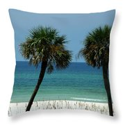 Panhandle Beaches Throw Pillow