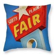 Panhandle South Plains Fair Sign Throw Pillow