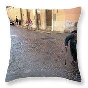 Panhandler Throw Pillow