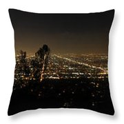 Pano From Griffeth Observatory  Throw Pillow