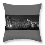 Pano Of The Fort William Starch Company At Sunset Throw Pillow