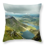 Pano Snowdonia Throw Pillow by Nick Bywater
