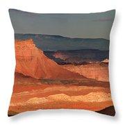 Panorama Dawn Light On The San Rafael Swell Utah Throw Pillow
