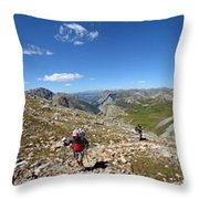 Panorama Looking Down Elk Creek From The Continental Divide - Weminuche Wilderness Throw Pillow