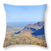 Panorama Mountain View Throw Pillow