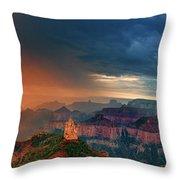 Panorama North Rim Grand Canyon Arizona Throw Pillow
