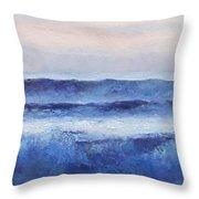 Panorama Ocean Painting Throw Pillow
