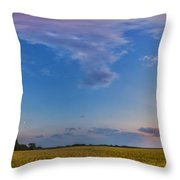 Panorama Of A Colorful Sunset Throw Pillow