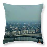 Panorama Of Budapest Throw Pillow