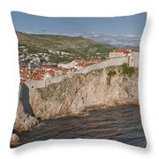 Panorama Of Dubrovnik, Croatia, In The Afternoon Throw Pillow
