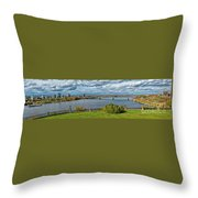 Panorama Of Gatineau, Quebec And Ottawa, Ontario Looking East On The Ottawa River Throw Pillow