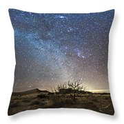 Panorama Of Milky Way And Zodiacal Throw Pillow