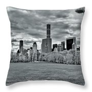 Panorama Of New York City Throw Pillow