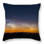 Panorama Of Noctilucent Clouds Throw Pillow
