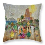 Panorama Of Oman Throw Pillow