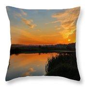 Panorama Of Sunset Throw Pillow